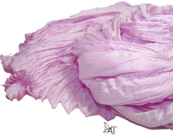 Hand dyed silk scarf - 4 sizes - crinkle scarf - PEARL