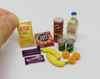 Dollhouse Miniature Picnic Food Lot