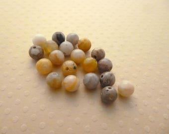 20 round beads India 6 mm - PGA6 0701