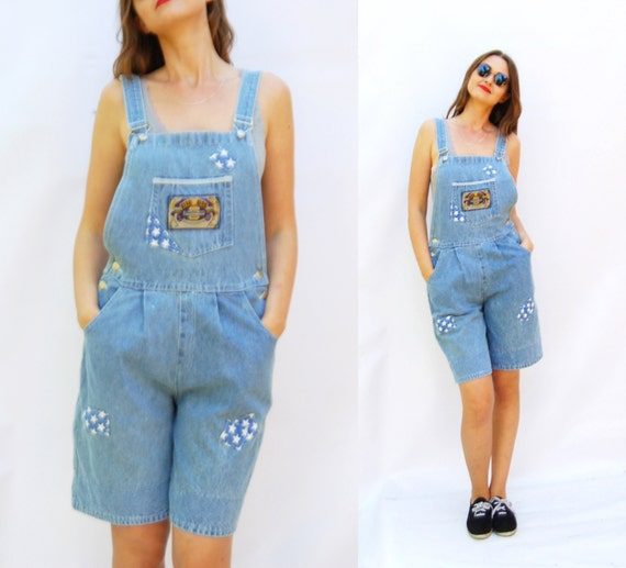 80s overall shorts