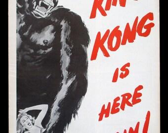 KING KONG original pressbook 1956