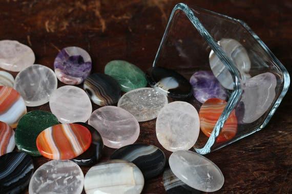 Crystal Thumb Stones, Worry Stones, Crystal Worry Stones, Chakra Stones, Crystals For Anxiety, Reiki, Pocket Stones