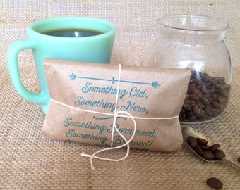 Ready to Ship. Bridal Shower Favors. Coffee favors. Freshly roasted, gourmet, unique. Set of 50.