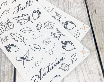Fall Doodle Stickers