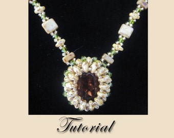PDF for Enchanted Forest Necklace - beadweaving beaded seed bead jewelry beading pattern tutorial