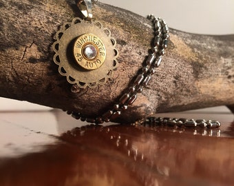 Winchester .45 Caliber Bullet Necklace
