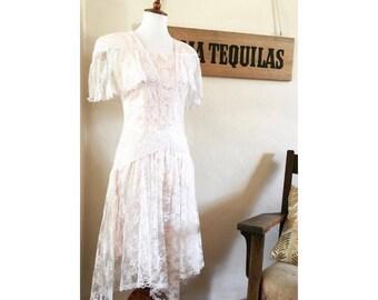 Vintage Gunne Sax lace boho dress