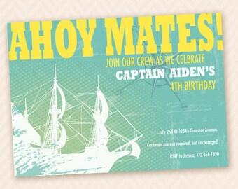 Children's Pirate Birthday Party Invitation