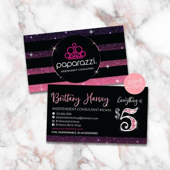 Paparazzi business cards free personalized paparazzi jewelry like this item colourmoves Choice Image