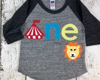 circus birthday shirt, circus shirt, big top, lion birthday shirt, one shirt, birthday shirt, zoo animal party, animal party, tshirt