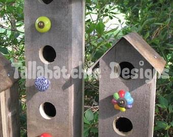 birdhouse outdoor, barn wood birdhouse, rustic birdhouse, primitive birdhouse, birdhouses