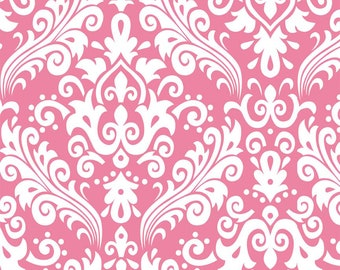 Damask Fabric, Riley Blake Designs, Pink Fabric, Sewing Material,  Cotton Fabric By The Yard, 1 Yard Fabric, Quilting Fabric, Girls Quilt