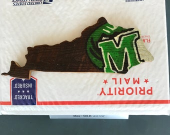 Meade county green waves Kentucky shaped sign