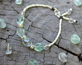 Fluorite Flow Bracelet - Karen Hill Tribe Silver - Fluorite Gemstones