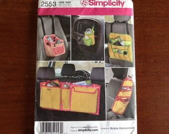 Simplicity  2553 Car organizer  craft pattern mostly  Uncut