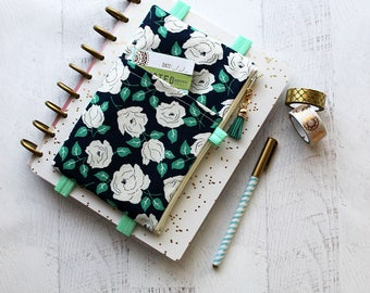 Floral planner cover - monthly planner - bullet journal accessories - gift ideas for her - floral planner bag - life planner cover - pouches