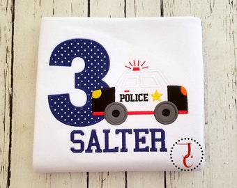 Police Birthday Shirt - Police Car Birthday, Police Birthday Party, Birthday Outfit Boy, Birthday Shirt Boy, Toddler Birthday, Twin Birthday