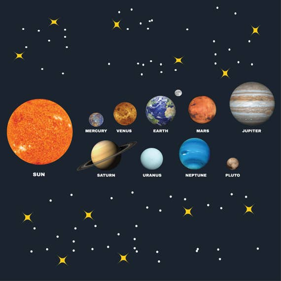 solar sytem with planets clipart pack digital collage rh etsy com planet clipart for kids planet clipart for kids