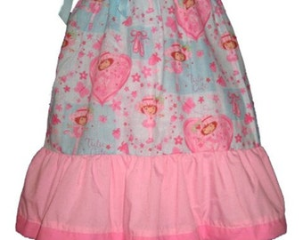 Pillowcase Dress & Pants Set Strawberry Shortcake Blue Ballerina Boutique 12/18M 24M/2T 3T/4T 5/6 Pageant New