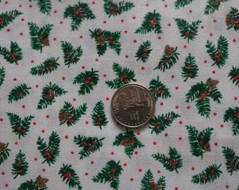 21 Vintage winter pine cones cotton 21