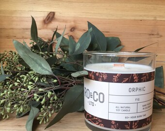 Fig Candle |Hand Poured|All Natural Soy Wax|Eco Friendly|Phthalate Free