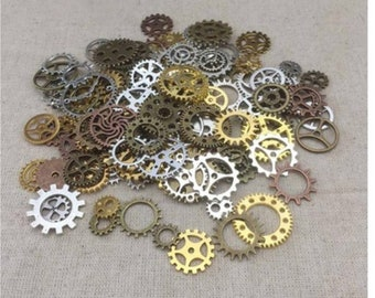 Mixed Vintage Jewelry Charms Jewelry Cogs & Gears Steampunk Cyberpunk Making Craft Parts
