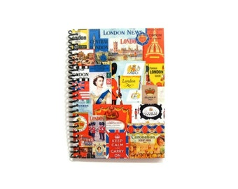 London Retro Travel A6 Notebook