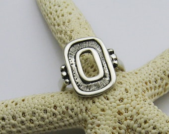 Handmade Sterling Silver Artisan Ring, Silver Statement Ring, Organic Silver Ring, Big Silver Ring, Boho Ring, Hammered Silver Ring