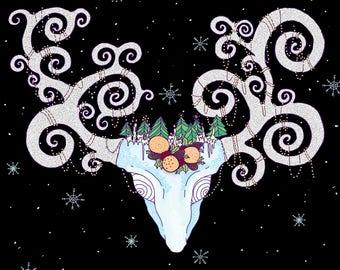 Winter Solstice Deer