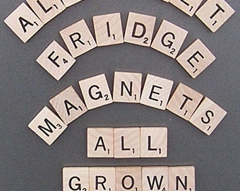 Scrabble Alphabet Refrigerator Magnets . . . All Grown Up - Learning Toy, Kid's toy, Educational Toy
