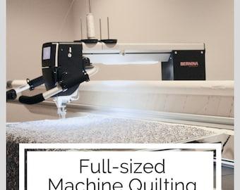 FULL-SIZED, Edge-to-Edge Machine Quilting