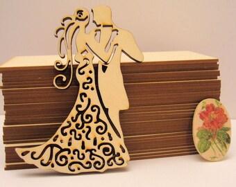 Bride 1237a wood embellishment wooden Littles 6 mm