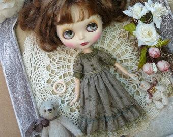 Blythe brown dress vintage / Pullip brown dress, pullip Blythe clothes,