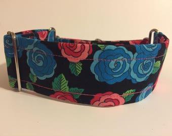Roses Martingale Dog Collar