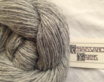 Recycled Wool/Viscose Yarn, Reclaimed 4-ply Light Worsted Weight Yarn, 418 yds available @ 0.03/yd