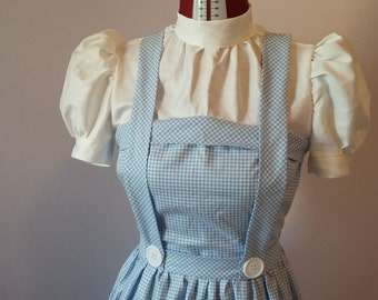 Handmade Dorothy Gale costume, Wizard of Oz inspired costume