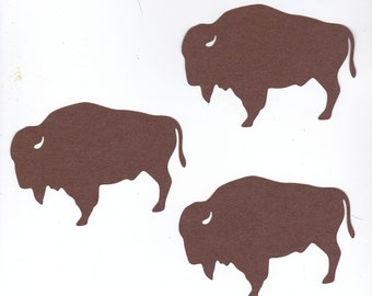 Large Buffalo or Bison Die Cuts | Scrapbooking | Wyoming | Yellowstone | Wild Animal Park
