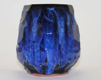 Modern blue vase