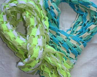 Crochet Decorative Scarf, Crochet Scarf, Handmade Scarf, Custom Crochet Scarf, Colorful Scarf, Gift for Her, Birthday Gift