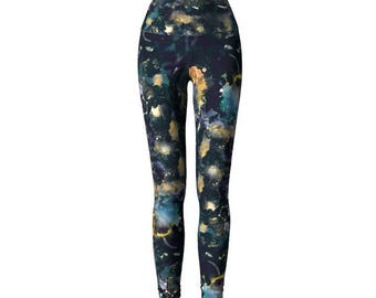 Constellation Leggings. Women's yoga pants. Space yoga leggings. Slim-Fit Leggings. Dark Ankle Leggings. High Waist Yoga Pants. FlowArte