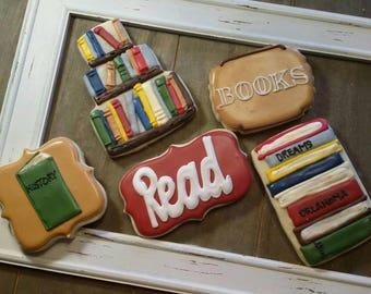 Library  Cookies - Book Club - One Dozen