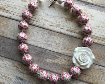 Rose Bubblegum Necklace