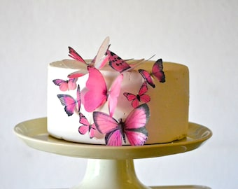 Wedding Cake Topper Edible Butterflies Assorted set of 15 - Cake & Cupcake Toppers - Food Decorations Wedding Cake Decoration