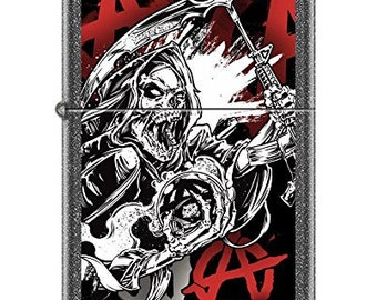 Sharp Iron Stone Sons of Anarchy Grip Reaper Zippo Lighter