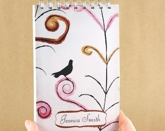 Personalized Journal Notebook - Swirls