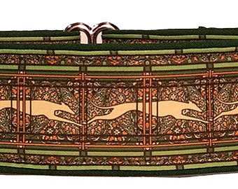 Jane Walker Paisley Green and Cream  Martingale Collar-