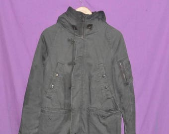 Rare Vintage Monkey Time x United Arrows Japan Japanese Designer Military Army Style Parka Jacket