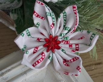 Candy cane Flower clip