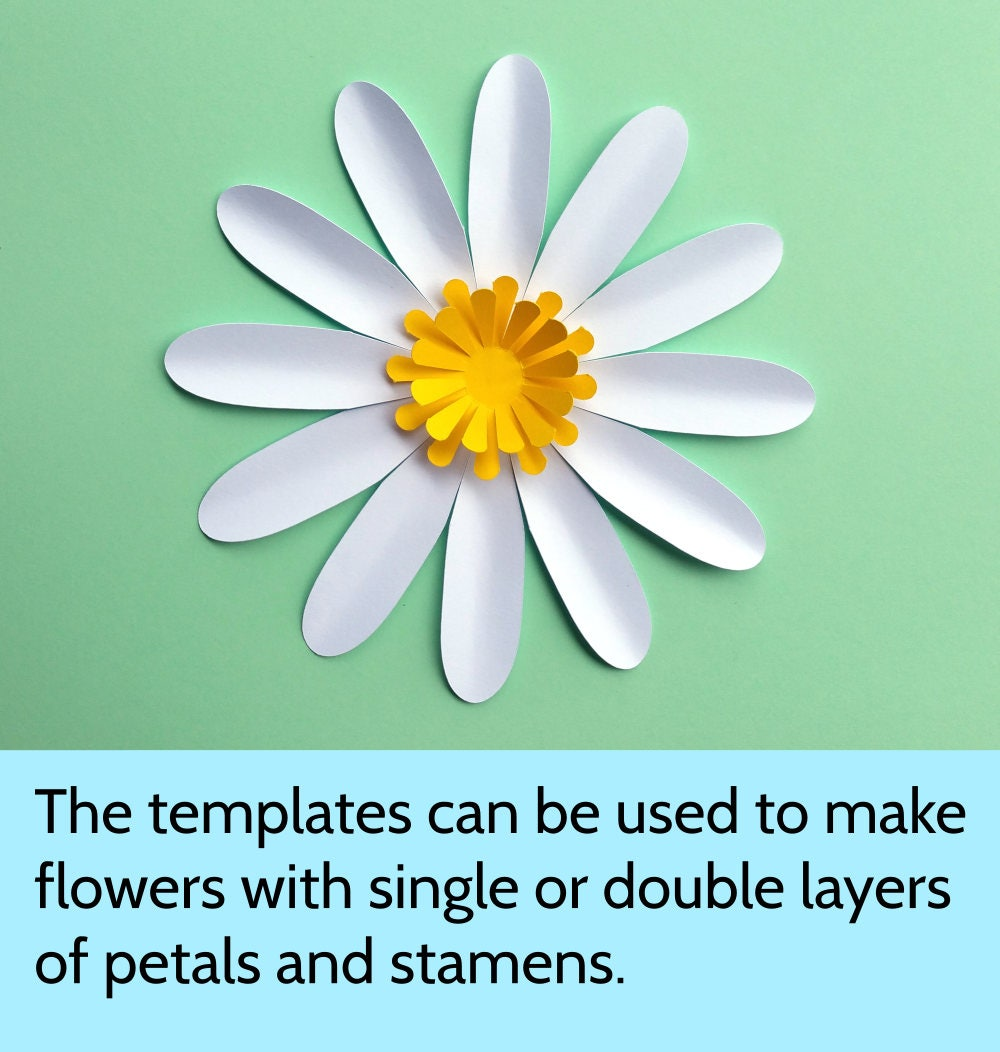 It's just a photo of Revered Daisy Templates Printable