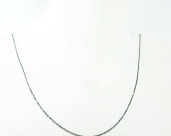 Oxidised Sterling Silver Chain, 29 inches